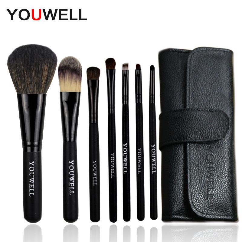 Юн Вэй 7 шт макияж кисти макияж кисти установить начинающих инструменты бровей теней кисти Foundation brush и губ кисти кисти краснеть