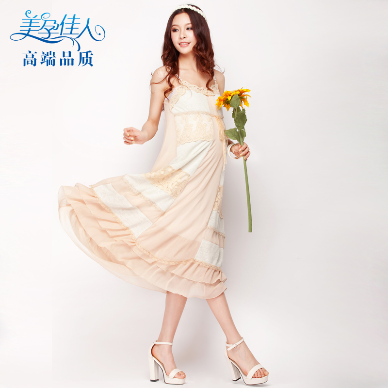 Goddess! Pregnant woman summer dress new pregnant woman skirt pregnant woman dress Korean pregnant woman dress pregnant woman dress 3338