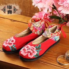 Chinese dance Chinese style retro shoes summer casual kidnapping shoes layer breathable embroidered shoes at the end of Dan dance