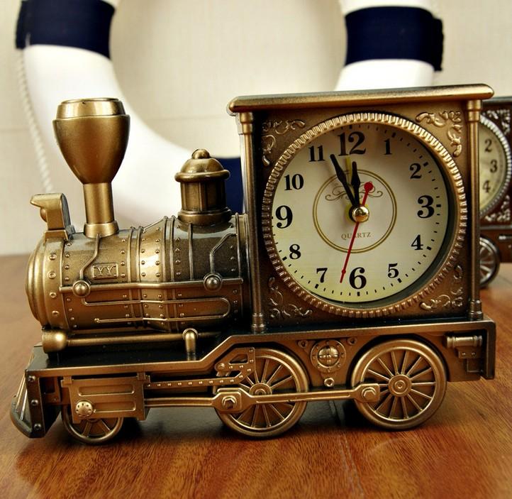 Creative пластиковые премиум классический ретро локомотива профили Англии представляет континентальный ретро декор двигателя будильника