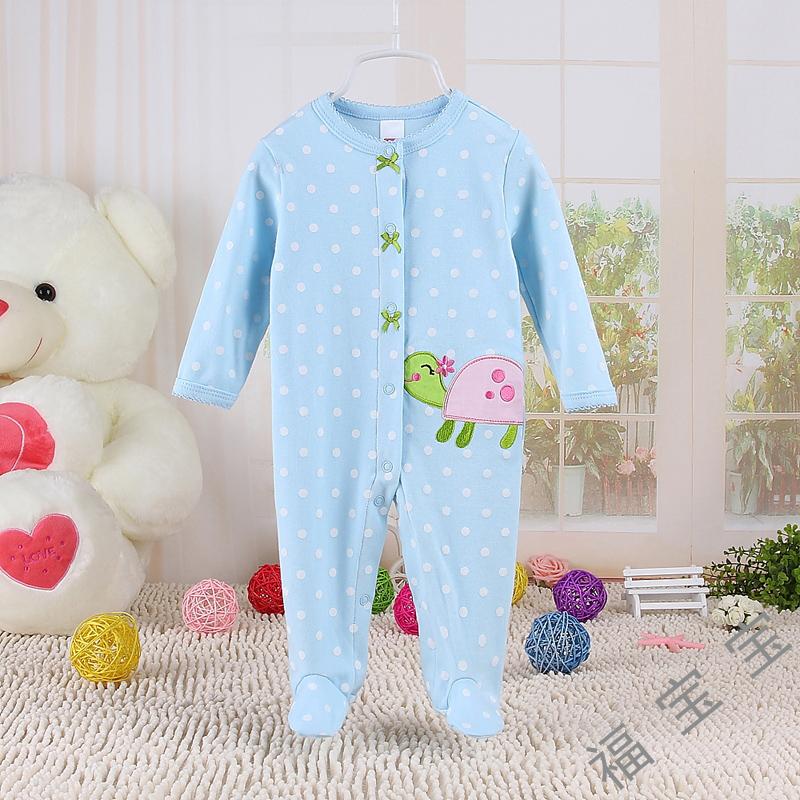 Onesies baby платье новорожденного весной и осенью одежды хлопок длинные рукава цельный комбинезон 0-6-12 месяцев