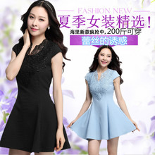 Foreign trade fat mm summer 2015 200 jins supersize ladies evening dresses lace bridesmaid party dress