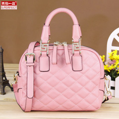 Show bags leather shoulder bag rhombic handbags 2015 winter new fashion handbags slung cow leather bag