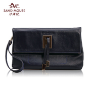 Beach mice spring 2015 new European fashion vintage Lady packet header layer cowhide leather clutch bag