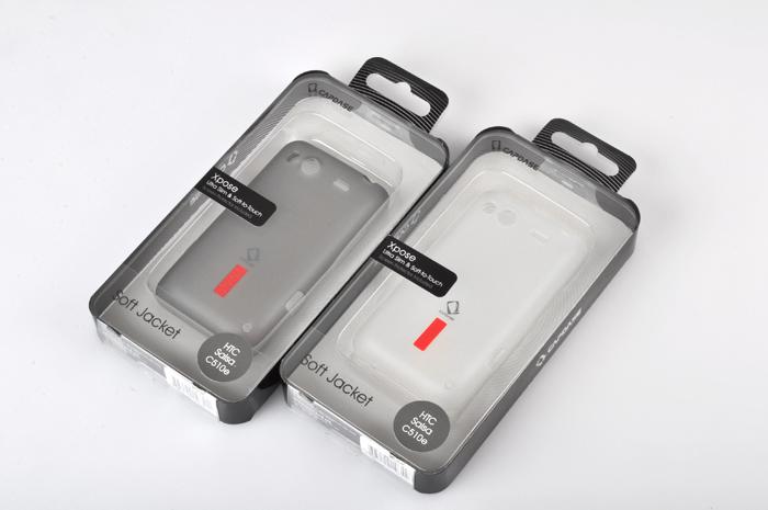 正品Capdase/卡登仕HTC C510E手机硅胶壳Salsa玲珑G15清水套薄膜