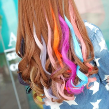 The sole color curly hair Japanese harajuku Europe and the United States punk wind color hair wigs highlights hair pills