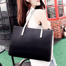 The new 2015 tote bag lady one shoulder bag big European and American fashion handbags leather handbag brand leather handbag