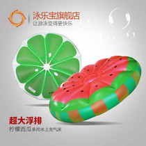 Swimming treasure more water on lemon watermelon large floating exhaust inflatable bed ride floating Bed swimming circle