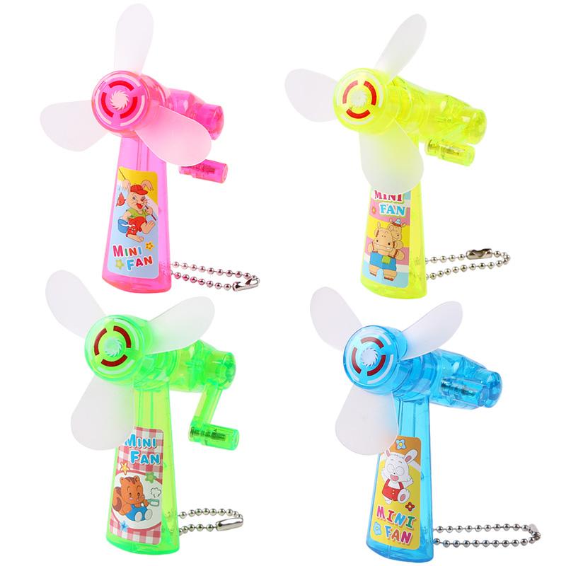 迷你手摇小风扇手动手持手拿便携式卡通儿童学生风扇礼物玩具批发