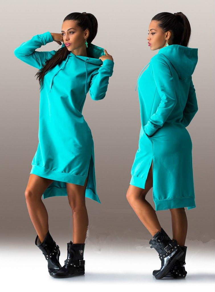 Aliexpress ebay продажа желание взрывы европейской моды асимметричный с капюшоном длинный рукав платье свитер