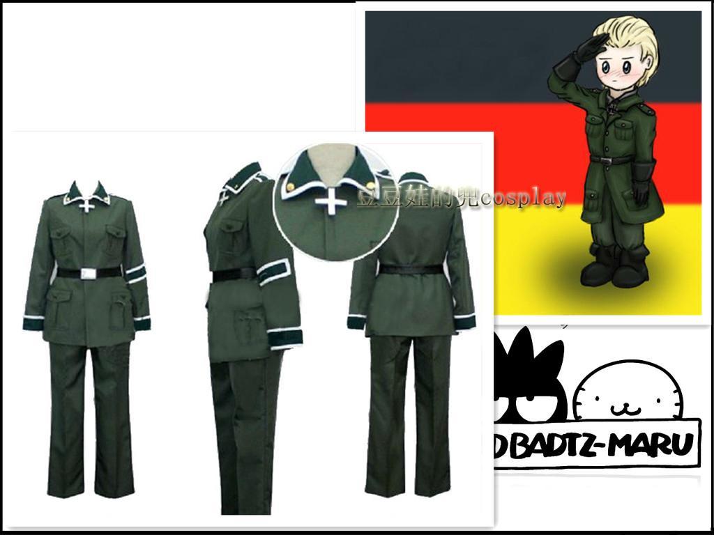 cosplay动漫APH黑塔利亚国拟人德国 路德维希军服原版免邮定制