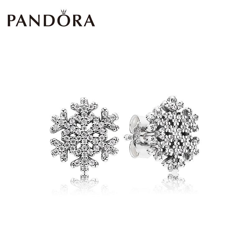 PANDORA пандора официальный прямо продавать блестящий из снежинка 925 дрожалка гвоздь 290589CZ