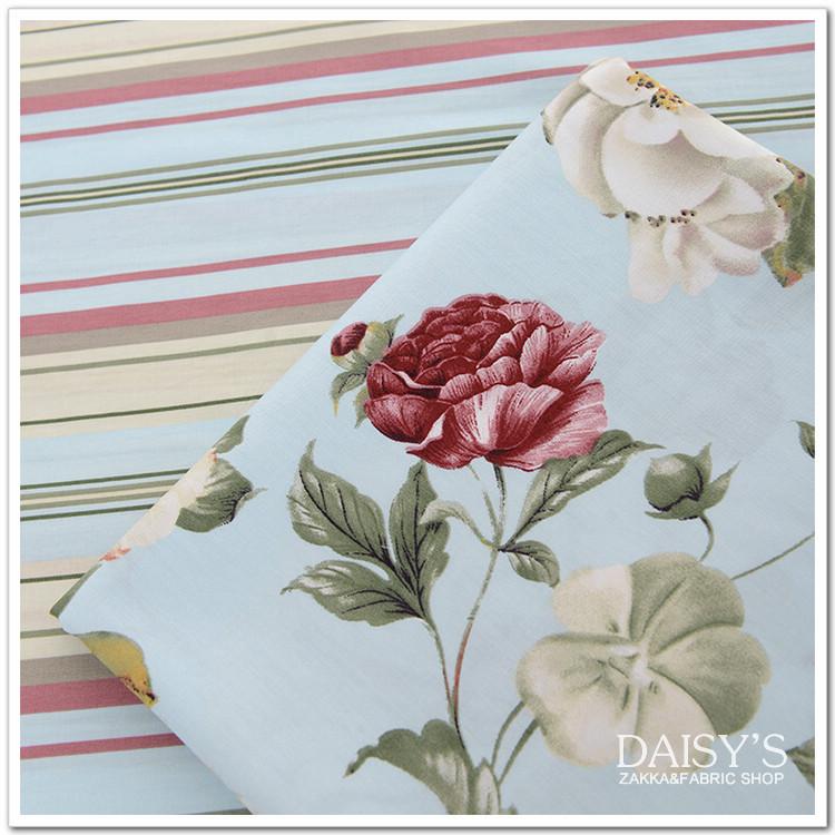 Ткань хлопок хлопок саржа листов ткани одеяло подушки ткань DIY ручной работы ткани белый вальс