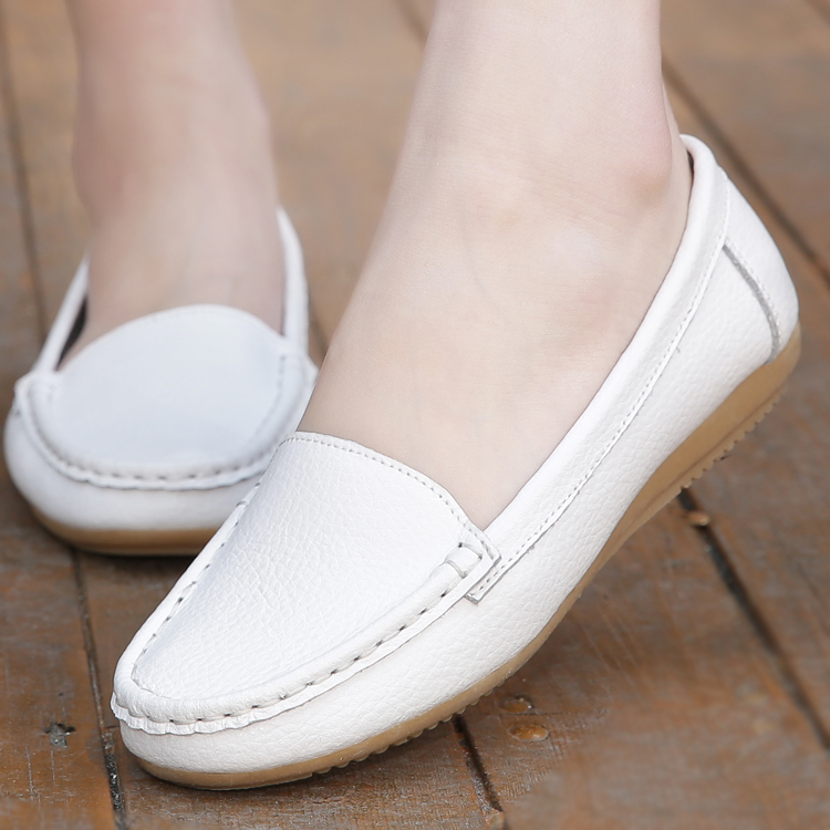 Casual white nurse shoes summer flat bottom antiskid womens shoes flat heel soft soled work shoes comfortable middle aged womens shoes