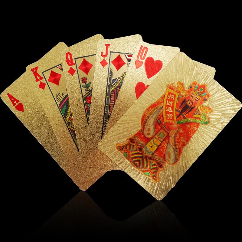 Золото покер собирать почва покер золотой водонепроницаемый пластик покер творческий