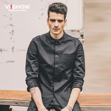 Vi. Han edition cultivate one's morality show men's autumn color matching long sleeve shirt tide male fashion casual shirt joker cotton
