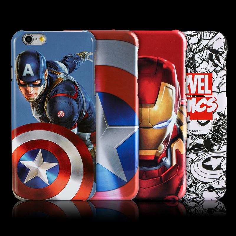 漫威iphone7手機殼蘋果6s plus鋼鐵俠美國隊長全包保護套電鍍浮雕