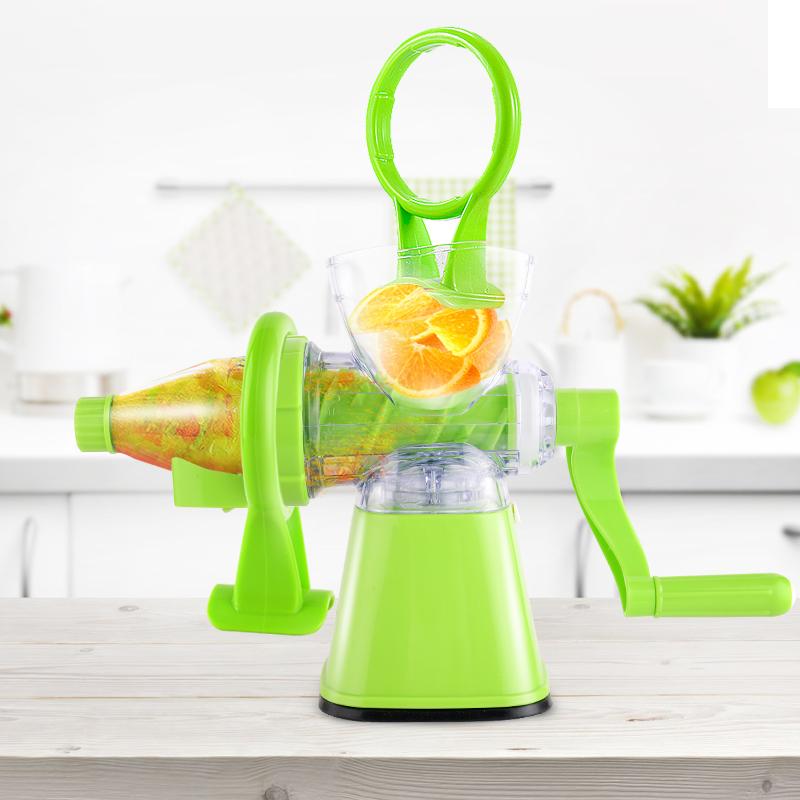 手動榨汁機家用多 兒童迷你小麥草麥苗手搖榨汁器水果原汁機語