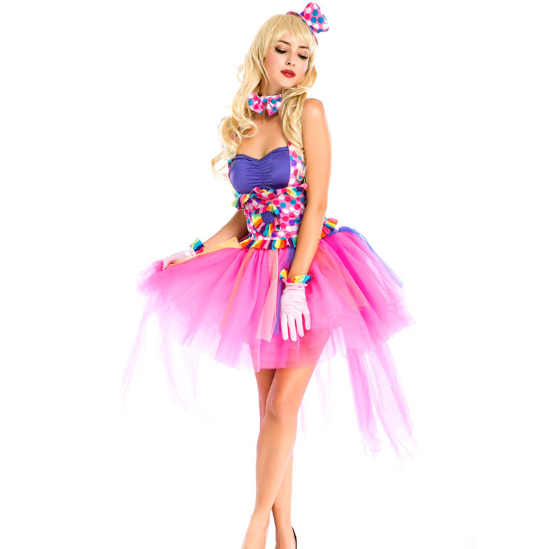 Halloween Costume female role play Circus Clown Costume European and American masquerade ball Cosplay party uniform