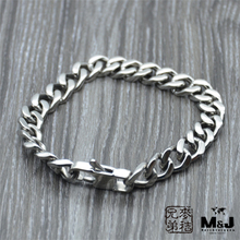 Han edition titanium steel bracelet hip-hop Europe and the United States male han edition domineering Non-mainstream coarse wide Tide male jewelry from mail
