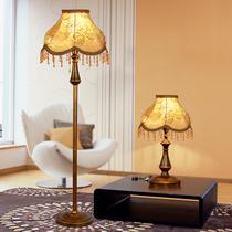 欧式落地灯创意时尚简约客厅立式落地灯现代美式卧室床头落地台灯