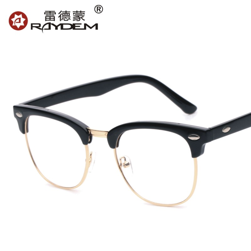 6db3f3d391 Authentic Korean version of the influx of men half-frame glasses frame  myopia plain mirror. Loading zoom