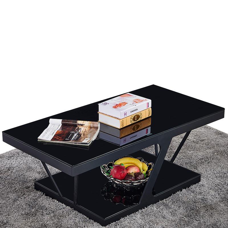 Закалённое стекло кофейный столик телевизионный шкаф простой современный двухуровневый квартира гостиная чай тайвань творческий усилие хранение чайный стол