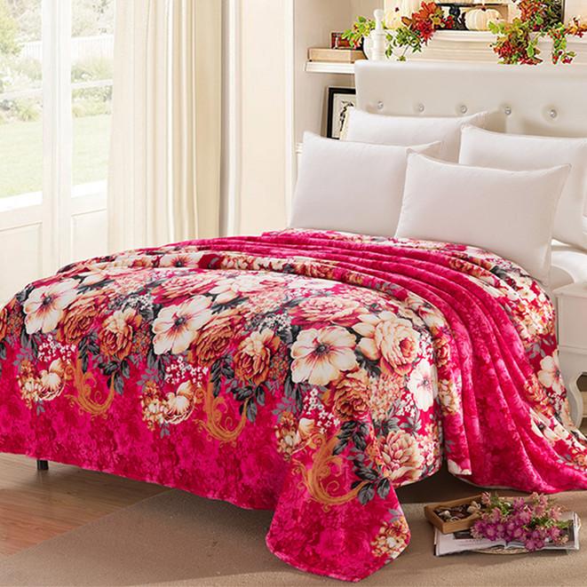 齊飛法萊絨180g蓋毯加厚毯子毛毯法蘭絨毯床單雙人毛絨床單