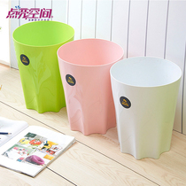 Kitchen trash large fashion creative home living room storage barrel without plastic trash