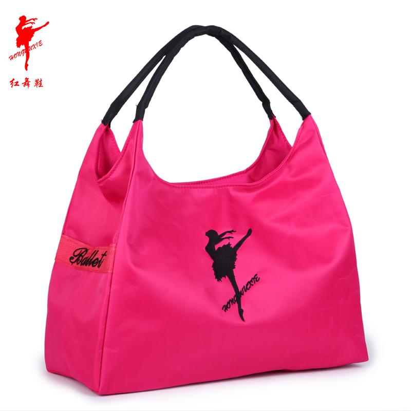 Модные женщины вышивать танец человек танец большой латинский йога пакет фитнес сумка кадриль мешок красный обувь 9113