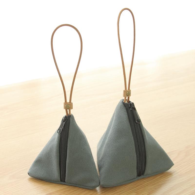 ANIU небольшой свежий модель руки взять ткань кошелек простой япония и южная корея холст составить первый продукт украшения карта ключ чистый черный мешок