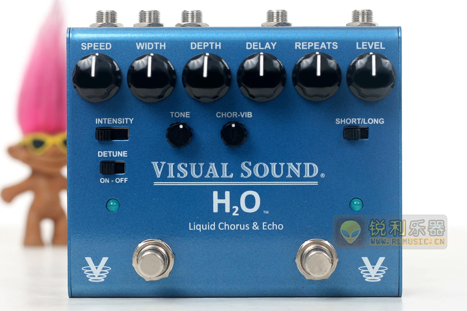 【Visual Sound H2O V3】合唱 回声延时二合一效果器【锐利乐器】