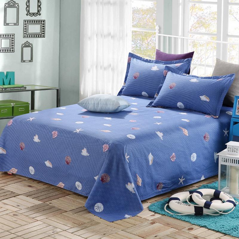 穀蝶單人兒童卡通純棉床單單件 雙人全棉加厚被單1.5 1.8 2.0m床