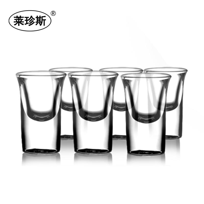 包邮6只套装白酒杯玻璃杯烈酒杯酒吧吞杯子弹杯鸡尾酒家用小酒杯