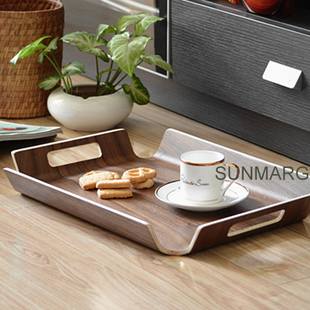 Creative fashion styling face cake pan European wooden pallets Japanese tea cup fruit plate child