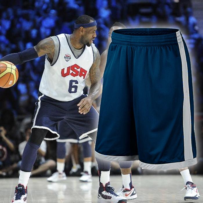 投籃訓練服熱身籃球褲 褲美國隊籃球短褲男 短褲跑籃健身褲