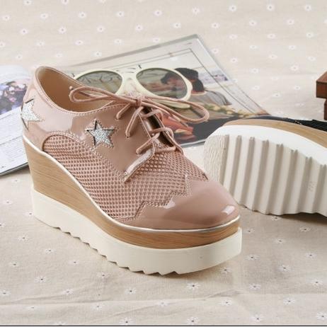 Сиань дай-15 летних клинья обувь женские туфли Корейское издание обуви воздухопроницаемой сеткой спорта Форрест студент обувь Обувь волны