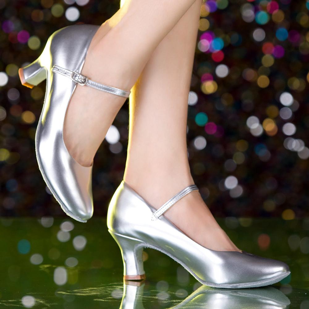 薩特賽薇摩登舞鞋女式交誼舞蹈鞋廣場舞鞋國標舞鞋金色拉丁鞋跳舞