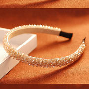Decorated hair accessories bag mail Korea Korean version of handmade beaded jewelry women four rows wide headband hairband temperament