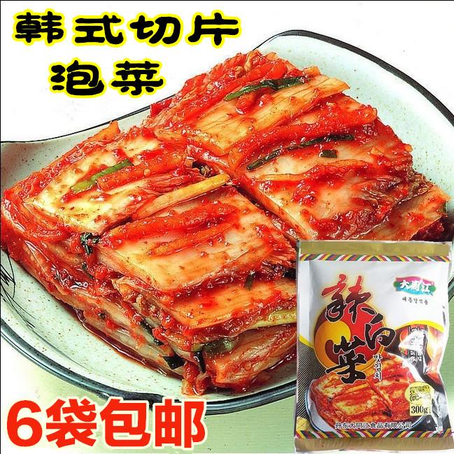 大同江辣白菜韩国泡菜辣白菜韩式延边泡菜切片泡菜6袋包邮