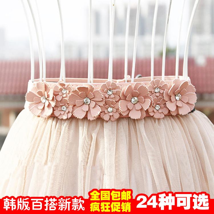 YESG широкий пояс дамы штраф простой и универсальный летом, так и повседневные платья с декоративной упругой вязать талии yd477