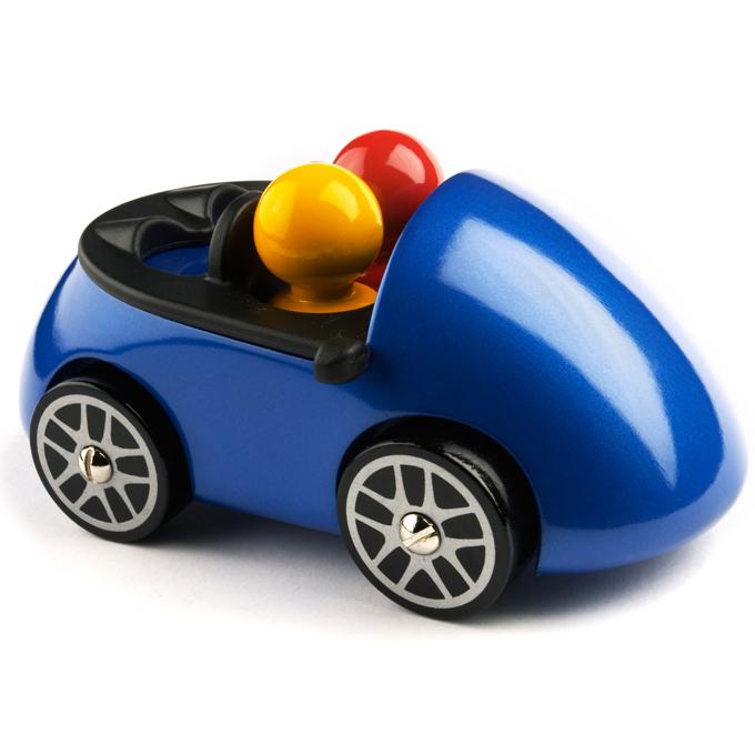 Швейцарцы классический Playsam SAAB Cabriolet (синий), Тайвань ручная работа Деревянные творческие игрушки, сделанные в SF