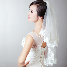 Korean package mailed the new summer 2015 wedding bridal veil the bride wedding veil water soluble lace veil accessories