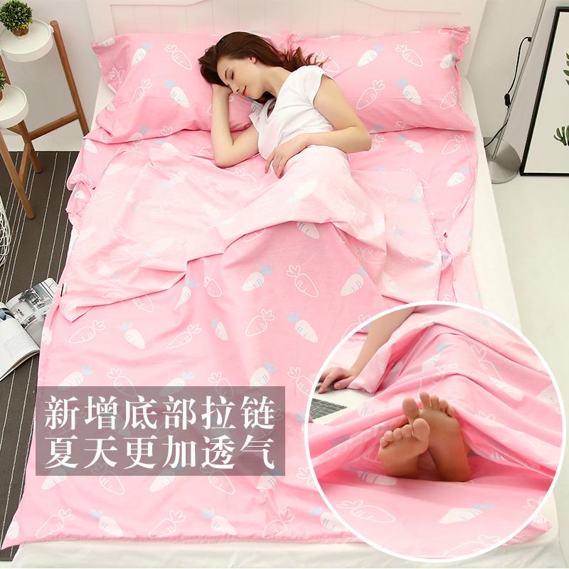 Спальный мешок для взрослых комнатный путешествие необходимо на открытом воздухе статьи путешествие легкий портативный тонкий отели модель грязный лист хлопок