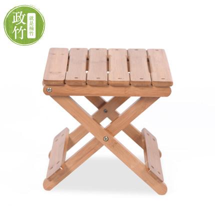政竹楠竹小方凳子折叠凳子钓鱼凳实木矮凳儿童小板凳竹凳环保创意