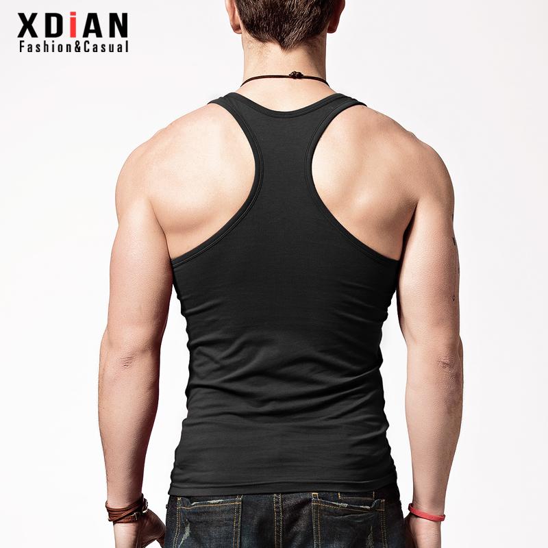 續點 工字背心男士 健身 修身型緊身無袖純棉打底汗背心 潮
