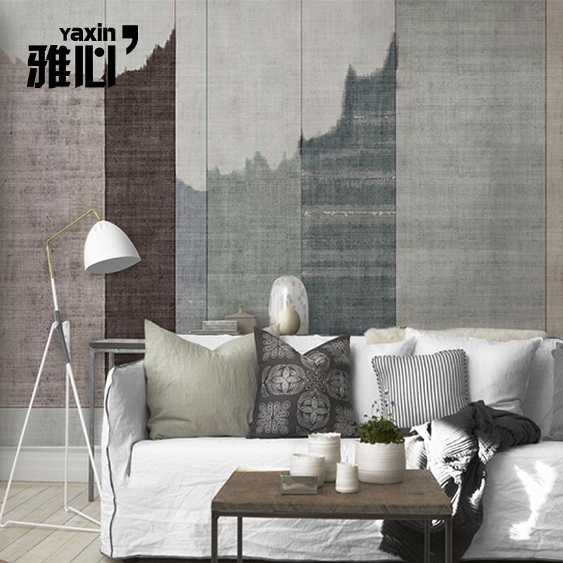 雅心北欧无纺布墙纸现代简约个性艺术壁纸电视背景墙定制壁画墙布