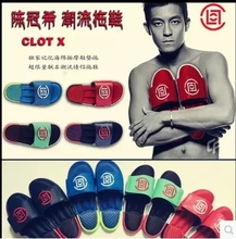 2015 summer popular logo CLOT slippers star Edison Chen couple male ladies slippers sandals massage
