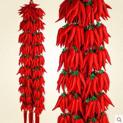 Торжество новый Год украшения большой китайский узел подвеска ткани chili строки украшения насыщенно-красный Подвеска перца бесплатная доставка по китаю