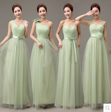 The new spring and summer 2015 bridesmaid dresses the bride sisters dresses Sister skirt long green Big yards bridesmaid dresses